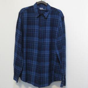 Polo Ralph Lauren Blue Plaid Long/S Linen Shirt